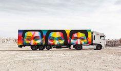 Una flota de camiones son los protagonistas de este proyecto que busca difundir el arte contemporáneo y llevarlo por toda España. El nombre del proyecto es