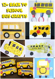 Looking for back to school crafts? These school bus craft ideas & school bus books will help your student get excited to ride the bus & countdown the days. School Bus Crafts, Back To School Crafts, Magic School Bus, School Projects, School Bus Art, School Buses, School School, School Stuff, School Ideas
