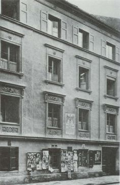 During the period 1913-1914, before he joined the Army for service in World War I, Hitler lived in a furnished room at Schleissheimerstraße 34, above what was then the Joseph Popp tailor shop. This was Hitler's residence from 26 May 1913 until he joined the army in August 1914.
