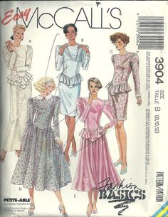 Sewing Pattern McCall's 9304 Vintage retro 1980s style gown dress   sewing pattern @TimeTravelStyle #timetravelcostumes