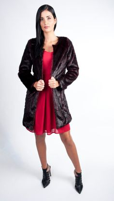 SALE Earthy Rich Burgundy Red Faux Fur by BUTTONSbySarahClaire, $25.00