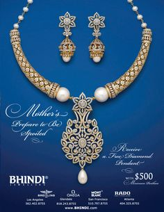 Prepare to be spoiled for Mother's Day • Visit Bhindi Jewellers in Bhindi Center, Decatur • Largest jewelry showroom in Eastern USA with huge selection of 22K gold and diamonds • Official jeweler for Breitling, Mont Blanc, Omega & Rado • For details and videos visit http://www.wownow.com/WOWNOW-Ads/Bhindi.html