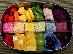 rainbow bento....nice!