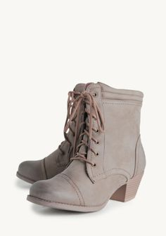 Adele Lace-up Ankle Boots at #Ruche @Ruche