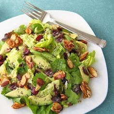 most favorite, most pinned, most raved-about recipe of 2012 -Cranberry-Avocado Salad w/ Candied Almonds & Sweet White Balsamic Vinaigrette