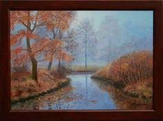 Landscape Oil painting, oil on canvas, Handmade art Oil On Canvas, Canvas Art, Painting Canvas, Autumn Rain, Handmade Art, Contemporary Art, Landscape, Modern, Vintage