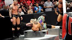 Batista & Randy Orton wreckage