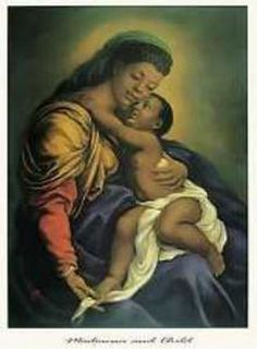 Madonna and Child by Tim Ashkar is a work of art illustrating baby Jesus Christ being embraced happily by his mother Mary. Mother Mary, Mother And Child, African American Art, African Art, American Women, La Madone, African Goddess, Mary And Jesus, Black Artwork