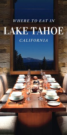 This Winter marked my first Winter Tahoe trip in my five years of living in San Francisco. After years of waiting, I finally had a fabulous four-day weekend in Tahoe. Here is my Tahoe Dining Guide, composed of some of the amazing spots my local friend recommended we visit during my 48 hours in the Tahoe City area! California Restaurants, California Destinations, Places In California, City Restaurants, California Travel, Amazing Destinations, Lake Tahoe Vacation, Tahoe City, Living In San Francisco