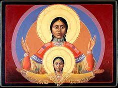Comanche Virgin & Child by Fr. John Giuliani