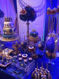 "Royal prince / Birthday ""First Birthday "" Quince Decorations, Quinceanera Decorations, Quinceanera Party, Royal Theme, Royal Party, Prince Birthday Theme, 1st Birthday Parties, Prince Party Theme, Birthday Ideas"