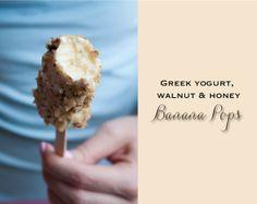 GREEK YOGURT, WALNUT & HONEY BANANA POPS