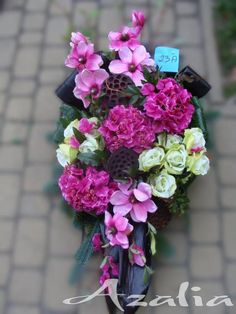 Church Flowers, Cemetery, Funeral, Pretty In Pink, Pink Flowers, Flower Arrangements, Centerpieces, Table Settings, Wreaths