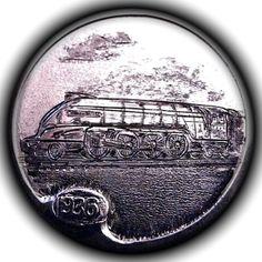 TOM MAHER HOBO NICKEL - LNER P2 LOCOMOTIVE -1936 BUFFALO NICKEL Hobo Nickel, Coin Art, Old Coins, Halloween Skeletons, Locomotive, Buffalo, Cactus, Carving, Paper