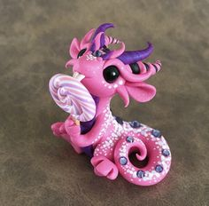 Pink Lollypop Dragon by Dragonsandbeasties
