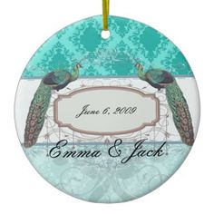 So pretty, for anniversary or just your wedding date to share on  your family Christmas tree. #ornament