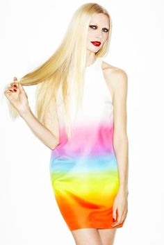 Kirsty Hume in Christopher Kane by Douglas Freidman for La Maison Simons Spring 2012 Collections