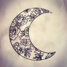 I like this ** 37 Inspirational Moon Tattoo Designs with Photographs - Piercings Fashions