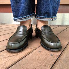 #jmweston #jmウエストン #ローファー #green ウエストンはいつだって修行です⚡️⚡️ Jm Weston, Loafers Men, Leather Shoes, Oxford Shoes, Dress Shoes, Menswear, Instagram Posts, Life, Fashion