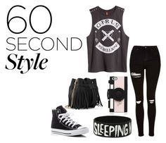 """""""60 ssecond style"""" by kirsimari ❤ liked on Polyvore featuring Topshop, H&M, Kate Spade, Converse, Whistles, men's fashion, menswear, DRAKE, views and 60secondstyle"""