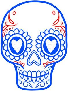 how to draw a sugar skull easy step 6