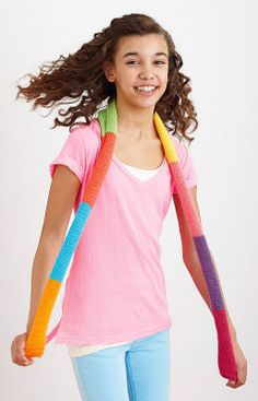 Lion Brand® Bonbons Color Block Scarf (Knit)