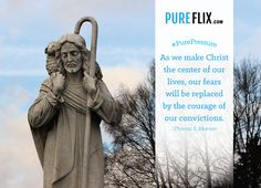 """""""As we make Christ the center of our lives, our fears will be replaced by the courage of our convictions."""" #QuoteOfTheDay  #inspiration #quote #motivation #pureflix #Christian #Jesus #God #JesusIsLord #prayer #comfort #faith #JesusChrist"""