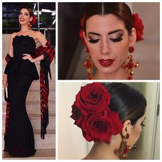 camila coutinho vogue - Pesquisa Google Pageant Makeup, Pageant Hair, Spanish Style Weddings, Spanish Wedding, Flamenco Party, Mexican Hairstyles, Spanish Dress, Elegant Chic, Quinceanera Dresses