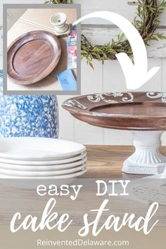 Today. I am sharing with you an easy tutorial for an adorable thrift store home decor piece that also has practical use! Let's dive in! #thriftstores #thriftstoredecor #upcycledhome #dixiebellepaint Easy Woodworking Projects, Easy Diy Projects, Upcycling Projects, Thrift Shop Finds, Tasty Chocolate Cake, Dixie Belle Paint, Wooden Plates, Candle Stand, Cake Plates