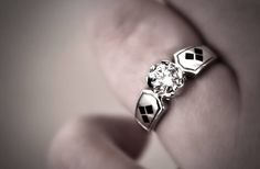 Stunning Batman Harley Quinn Engagement Ring - When Geeks Wed