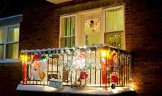 christmasbalconydecorationideas 7 Outside Pinterest