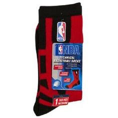 NBA Technical Basketball Socks Red Size L 10-13 New #NBA #Athletic