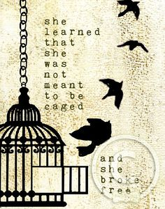 SHE BROKE FREE by melody ross - Purchase this print from shop.bravegirlsclub.com starting at $15.00