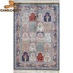 persian oriental natural silk handknotted garden design prayer rugs