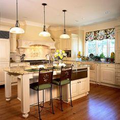 Elegant Insel, Herd Fliesenspiegel, Küchen Essbereich, Traumküchen, Küchen Design, Ideen  Für Die Küche, Fensterdekorationen, Küche Und Esszimmer