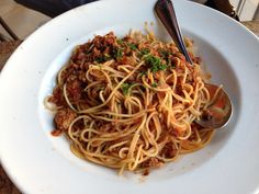 Meaty spaghetti @ Cheesecake Factory