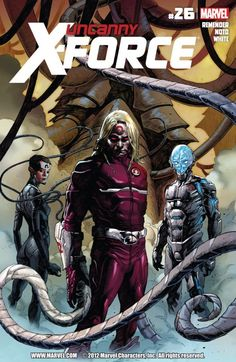 Uncanny X-Force Marvel) comic books Marvel Comic Universe, Marvel Comics Art, Marvel Comic Books, Marvel X, Comics Universe, X Men Costumes, X Force, The Uncanny, Psylocke