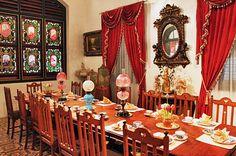 Opulent dining room at Pinang Peranakan Mansion
