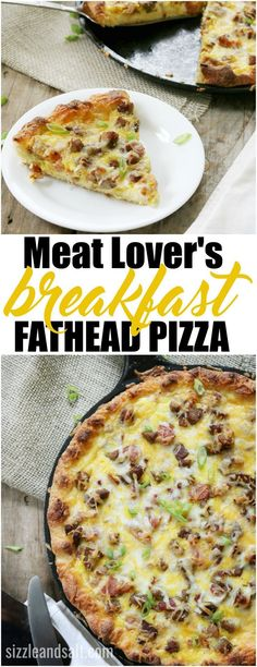 Are you eating low carb or keto and looking for more options? We have a Low Carb/Keto friendly Fathead Pizza- Meat Lover's Breakfast version! fathead pizza keto low carb gluten free