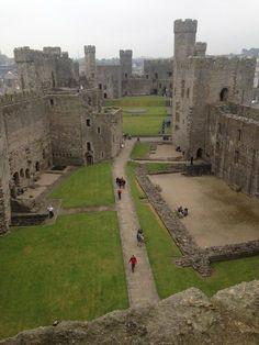 Inside Caernarfon Castle, Wales : castles