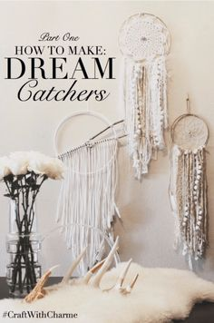 Boho Dreamcatchers -- If you love the delicate, boho style of a dreamcatcher, here are 10  dreamcatcher tutorials for you to try to make your own!
