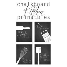 Chalkboard kitchen printables