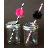 Party drink kit - hot pink, black and white