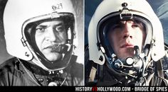 """U-2 pilot Francis Gary Powers and his onscreen Bridge of Spies counterpart Austin Stowell. Read """"Bridge of Spies: History vs. Hollywood"""" at http://www.historyvshollywood.com/reelfaces/bridge-of-spies/"""