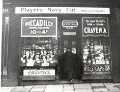 Liverpool Tobacconist Shop Front - 426 West Derby Road, c 1950s ...  10 Fags 4d !