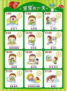 Học tiếng Trung chủ đề hoạt động của 1 ngày