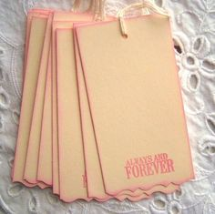 Pink Always and Forever Tags - Wedding wish tree tags