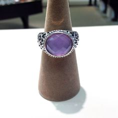 Sterling silver amethyst ring #silver #purple #amethyst #ring