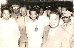 Former Senator Tomas Cabili (far left) with President Ramon Magsaysay (right) along with several high-ranking Philippine government military officials and journalists just before boarding the plane from Cebu on that fateful night on March 17 Jose Rizal, Filipino Fashion, Cebu, Pinoy, Happy Life, Photo Credit, Philippines, Love Her, Presidents