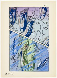 Art deco patterns from Oceanic Fantasies, by E H Raskin, Pattern Drafting, Natural History, Art Deco, Ocean, Tarot, Artwork, Inspiration, Illustrations, Patterns